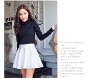 high waisted shorts - autumn winter new high waisted short skirt A word skirt pleated skirt