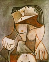 Oil Painting beautiful female paintings - Beautiful abstract art oil painting by Pablo Picasso Crouching female nude hand painted High quality