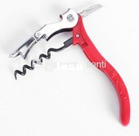 bar corkscrew - New Arrive Red wine bottle openner sea horse corkscrew openners with knife waiter tool bar tool