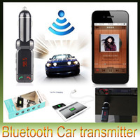 Wholesale BC06 bluetooth LED Display car charger BT car charger mp3 MP4 player mini dual port AUX FM transmitter