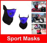 Wholesale Neoprene Winter Neck Warm Face Mask Veil Sport Motorcycle Ski Bike Biker Sport Masks Adult Beanie Hats Cap Half Face Ski Mask