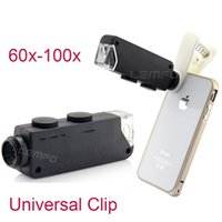 microscope for eye - Universal x x Zoom Mobile Phone Microscope Eye Lens For iphone s Samsung S5 S4 Huawei HTC With Led Light New