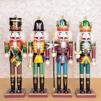 arts and crafts shops - 100 handmade Wooden Crafts colorful Nutcracker doll gift for shop and home decoration