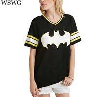 baseball batting t - Fashion Women Summer Bat Letter Print T shirts Vintage Short Sleeve T shirts Baseball Stripe Brand Tops Camisetas Mujer