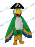 Wholesale Brand New Professional custom made PARROT PARAKEET PIRATE HAT Mascot Costume Adult Character Costume mascot costume