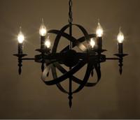 Wholesale Wrought iron chandelir Restaurant bar chandeliers