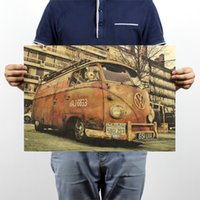 antique vw - Wall Decals Vinilos Stickers Vintage Signs Vw Bus Retro Painting Car Plate Bar Antique Wall Decoration Posters x35 cm