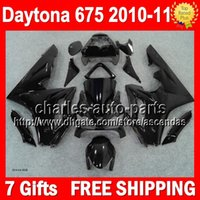Wholesale 7gifts Body Glossy black For TRIUMPH Bodywork Daytona Q40 Daytona675 Gloss black Full Fairing Kit