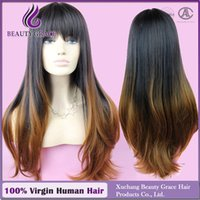 Cheap Ombre Wig Cheap Fashion Heat Resistant Synthetic Female Beauty Grace two-tone Wigs African American Wig for black women