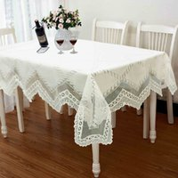 banquet size tablecloth - Tablecloth Lace Table Cloth Knitted Vintage Dining Table Cover Knitting Hollow Out Sizes Banquet Kitchen Wedding