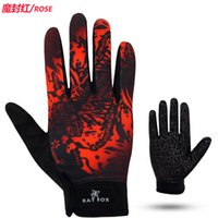 batting gloves - 2016 Real Top Fashion Full Finger Motocycle Motorcycle Ktm Bat Fox Spring And Autumn Bike Riding Gloves Full Finger Mtb Long