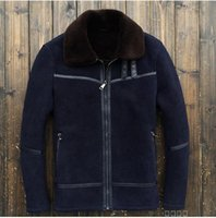 america sheep - Fall The Original Single Europe And America Sheep Shearing Fur Scrub Men s Leather Jackets Coat Men s Flight Suit