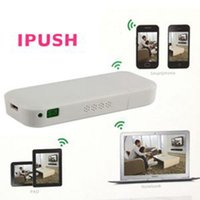 ipush airplay dongle al por mayor-100% nuevo receptor inalámbrico AirPlay MediaShare iPushHDMI DLNA Wifi Dongle TV / Calidad iPush Wifi Pantalla Dongle con precio bajo
