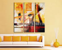 abstract pictures meaning - 3 piece decor art set Modern City decoration Abstract Meaning Picture hand painted Oil Painting on Canvas for living room
