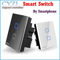 Wholesale 2015newBroadlink tc1 smart switch touch smart home automation remote control switch wireless walls single biswitch with Touch Bu