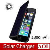 External Battery case - Hot Sale New mah Solar Power Leather Flip External Backup Battery Charger Case For Apple iPhone inch with Retail Box