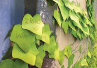 Wholesale Maple leaves vivid green sticky paste N times the creative class notes posted message Stickers