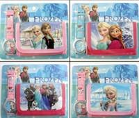 belt buckle purse - Frozen Anna Elsa despicable me in Purse Wallet and watch sets kids children Spidermen cartoon quartz boy girls Christmas gift watches