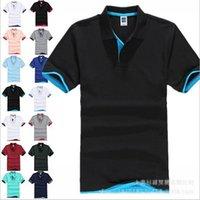 Cheap XS S M L XL XXL Printed cotton round collar short sleeve men DIY pure color T-shirt