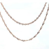 absolute necklaces - Jewelry Sterling Silver Plated Sterling Silver Necklace Chain rose Jinshui wave absolute Sterling Silver Chain