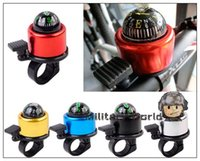 Wholesale High Quality Colors Aluminum Bike Cycling Alarm Bell Sounds Bicycle Horn with Compass Alarm Ring Handlebar Bicycle Accessories order lt no