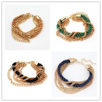 Wholesale Woman Bracelet Weave Chains Fashion Girls Women Accessory Lady Party Dress Bracelets Chain Colors