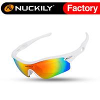 Nuckily Lunettes de soleil de cyclisme de course de vélo Nuckily lunettes de soleil unisexes avec de meilleures lunettes de soleil de biking de qualité pour la vente en gros