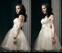 Wholesale Free fast shipping mini formal dress short design bridesmaid dress off shoulder back zipper Bra dress