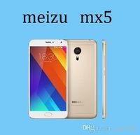 Wholesale DHL FREE MEIZU MX5 MP Camera inch FHD Helio X10 GHz Bit Octa Core Android Dual Nano Sim Card G Lte Phones