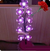 Wholesale Factory direct sale LED lamps nine peach flowers with different colors which can decorate home office garden and other places