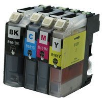 brother printer - 4 set LC161 LC161XL LC XL with chip compatible Ink inkjet cartridge cartridges for Brother DCP J152W J752DW MFC J245 printer