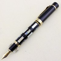 Cheap With Real Sea Shell Luxury Fountain Pen Jinhao 650 Black 18kgp Medium Nib Great Wall