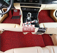 Wholesale Red and black spinning mats free cut sets of a package The car carpet mats spinning three piece A