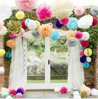 paper background - 28 Color Paper Flower Ball Wedding Background Supplies Multi color Multi size Wedding Backdrops Screen Marriage Room Wedding Car Decorations