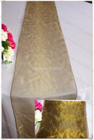 Wholesale NO Color Snow Organza Table Runner Tablecloth Table Cover For Wedding Party Hotel Banquet Home Decorations