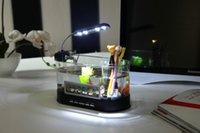 Wholesale 1pc Mini USB LCD Desktop Lamp Light Fish Tank mini Aquarium lcd display LED Clock