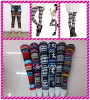 Wholesale 2015 Frozen multicolor New Arrivals Lady Nordic Deer Snowflake Knitted legging fashion Leggings Tights Pants Thin style L516