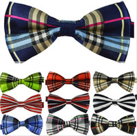 mens neckwear - 2015 new Fashion British style Mens Womens Unisex Floral Star Check Polka Dot Stripes Print Bowtie Neckwear Bow Tie