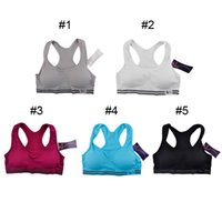 Bras athletic gray color - No rims Seamless Sports Bra Yoga Pad Sport Bras Women Sexy Racerback Stretch Yoga Athletic Sleeping Nursing Bra