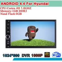 Cheap high resolution android 4.4 radio Best android 4.4 double din dvd for hyundai