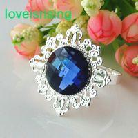 Wholesale Lowest Price High Quality Navy Blue Vintage Style Napkin Rings Wedding Bridal Shower Napkin holder