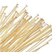 Wholesale 22K Gold Plated Head Pins Gauge Inches N014