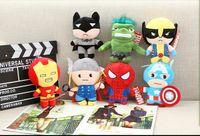 La felpa de los héroes estupendos de 10pcs Avengers2 juega los juguetes populares del regalo de cumpleaños de los niños de la muñeca de la felpa del casco de Hulk del hombre del hierro del capitán América del Thor del 23cm Thor