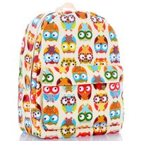 cotton bag - 2015 New Season Candy Color Owl Canvas Backpacks Girls Shcool Bags Girls And Boys Fashion Explosion Models Backpacks Children S School Bags