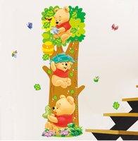 20pcs al por mayor de Decoración de árboles de las habitaciones y el patrón de los niños del oso desprendibles de la pared pegatinas de medida para los cabritos sitio Inicio Vinilos decorativos Vinilos
