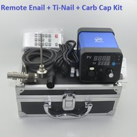 Wholesale 2015 ENail Kit Dry Herbal Digital PID Electronic DNail Dab dnail Titanium Nail Domeless Dnail D Nail E Nail D Nail WAX Vaporizer Box Vapor