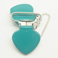 Wholesale heart shape suspender clip in green mm size retail Suspender Clip Suppliers Manufacturer