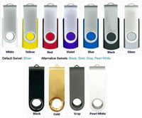Wholesale 10pcs Metal Plastic real capacity GB GB GB GB GB GB GB Swivel custom USB Flash Drive Pen Disk Customized LOGO memory stick