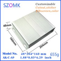 amplifier project - szomk hot selling electrical aluminum amplifier project enclosure mm wall mounting enclosure outlet boxes AK C A9