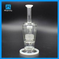 L'arrivée de nouveaux Verre 2015 l'arrivée de nouveaux deux fonctions Inline Rig Perc Concentra verre pipe à eau en verre Bong barboteur Oil